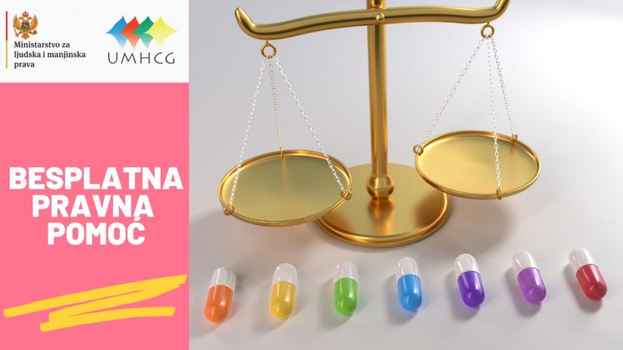 NAJAVA: Besplatno pravno savjetovalište i besplatna pravna pomoć za OSI na teritoriji Crne Gore