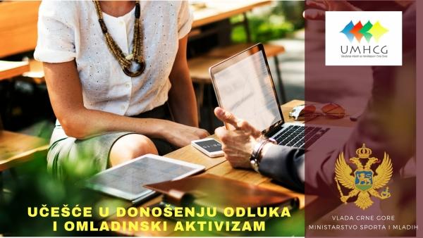 Najava radionice za mlade s invaliditetom o procesima učešća u donošenju odluka i omladinskom aktivizmuu Bijelom Polju