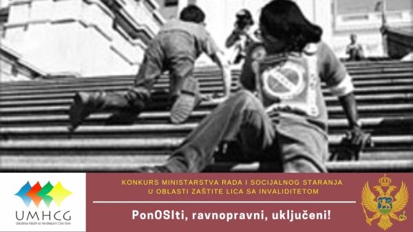 Najava: UMHCG započinje realizaciju projekta PonOSIti, ravnopravni, uključeni!